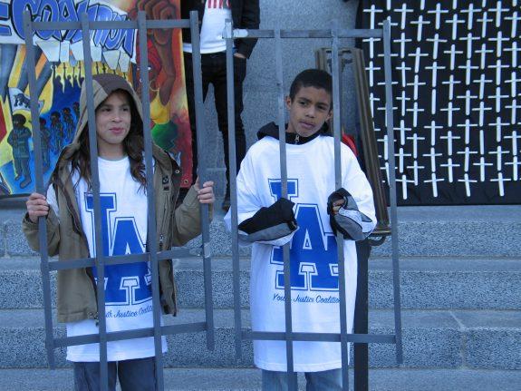 Sac Town Youth Behind Bars at SB399 Rally