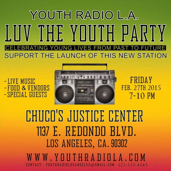 Luv The Youth Radio LA Fundraiser Flyer 2:27:15