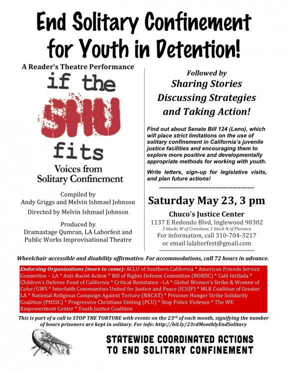 May 23 Forum for SB124 Solitary Confinement
