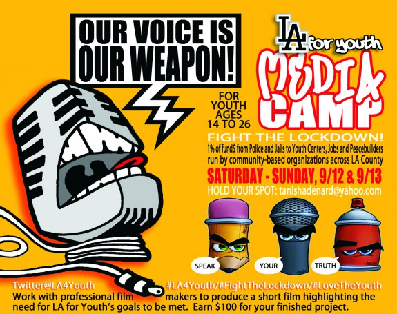 2015 LA for Youth Media Camp Flyer