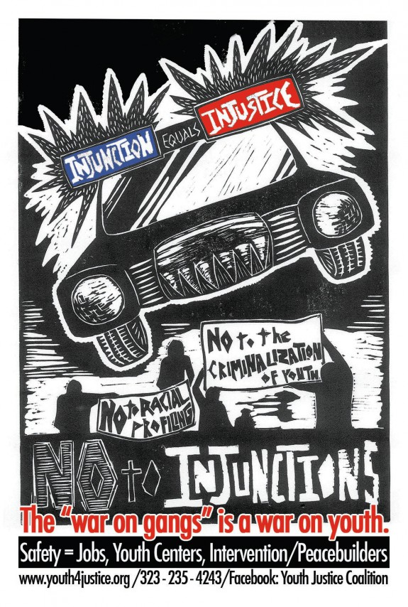 Injunctions are injustice poster yjc