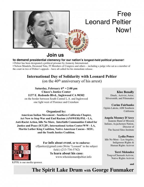 Leonard peltier event flyer YJC