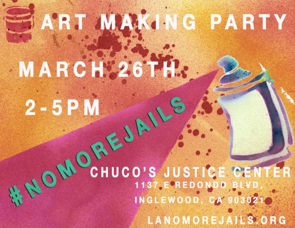 No More Jails Art making party YJC chucos