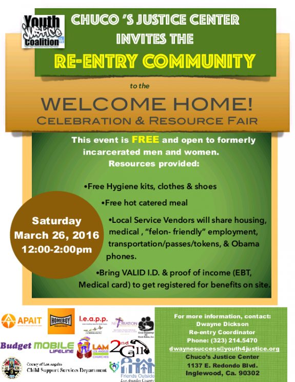 Welcome Home Flyer March 26, 2016 YJC