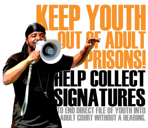 YJC keep youth out of adult prisons collect signatures