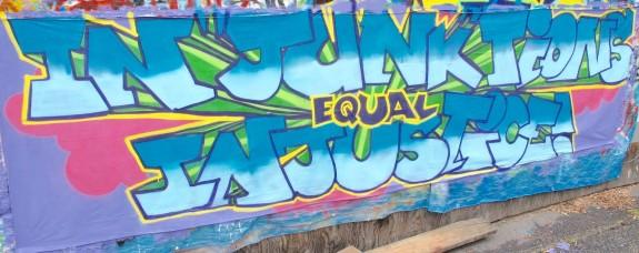 Injunctions Equal Injustice Mural